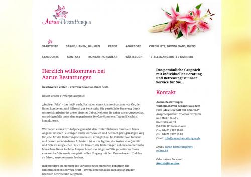 Firmenprofil von: Bestattungen Aarun: Ihr Beerdigungsinstitut in Wilhelmshaven