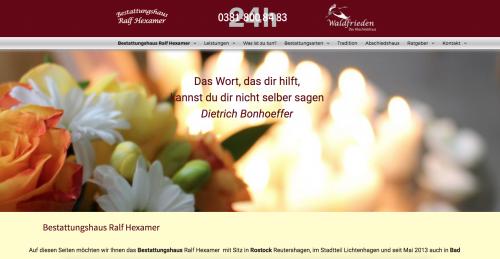 Firmenprofil von: Bestattungshaus Hexamer in Rostock
