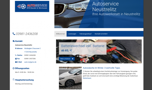 Firmenprofil von: Autowerkstatt Autoservice Neustrelitz in Neustrelitz