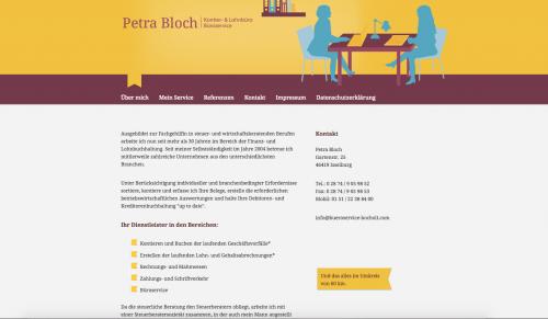 Firmenprofil von: Finanzbuchhaltung in Bocholt – Kontier- & Lohnbüro Büroservice Petra Bloch