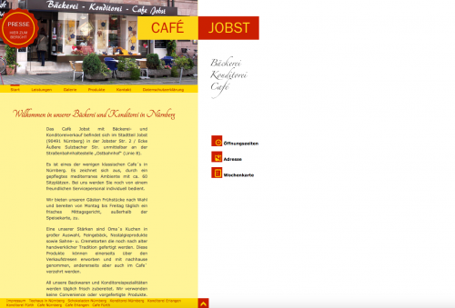 Firmenprofil von: Kaffee trinken und genießen im Café Jobst