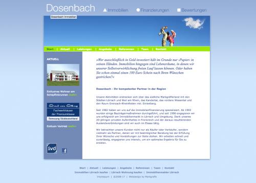 Firmenprofil von: Immobilien einfach und schnell verkaufen: mit Dosenbach Immobilien in Lörrach