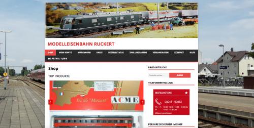 Firmenprofil von: Modelleisenbahn Ruckert in Buchloe