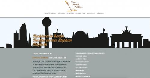 Firmenprofil von: Tischlerei Herfurth in Berlin – Ihr Partner für Sanierung, Holz- sowie Malerarbeiten und mehr