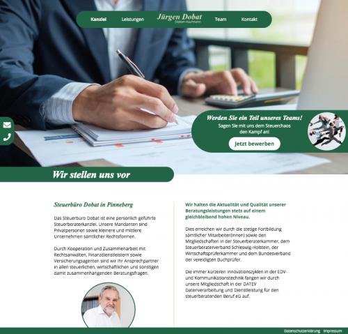 Firmenprofil von: Professionelle Finanzbuchhaltung mit Steuerbüro Jürgen Dobat in Pinneberg
