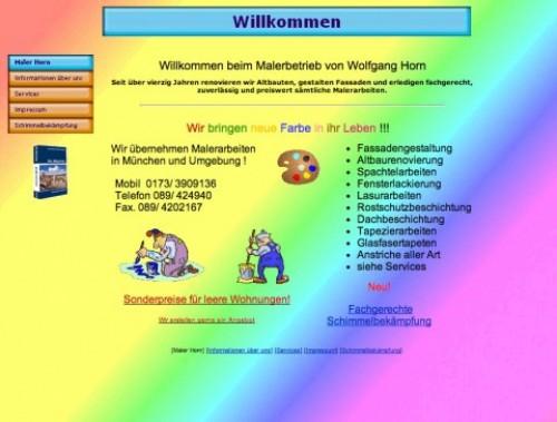 Firmenprofil von: Malerbetrieb Horn in München – zum Verkauf