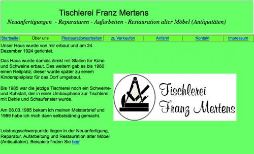 Firmenprofil von: Tischlerei Mertens in Schmallenberg