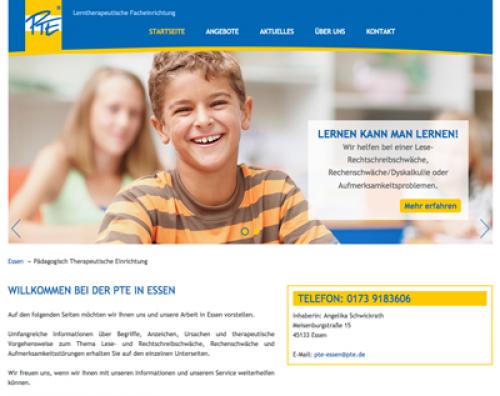 Firmenprofil von: Lese-Rechtschreib-Schwäche (LRS) gezielt angehen bei PTE in Essen: Ihre lerntherapeutische Facheinrichtung