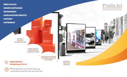 Firmenprofil von: Palicki Werbetechnik aus Recklinghausen setzt Unternehmen in Szene