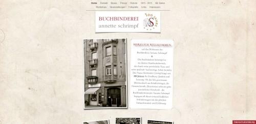 Firmenprofil von: Buchbinderei Annette Schrimpf in Mannheim – Gästebuch für die Hochzeit