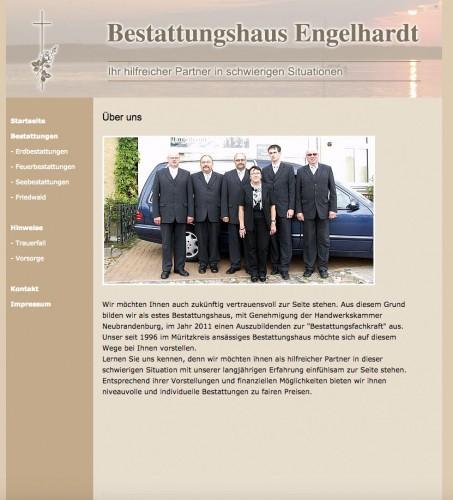 Firmenprofil von: Bestattungshaus Engelhardt in Waren