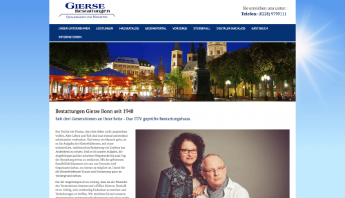 Firmenprofil von: Entlastung in schweren Stunden - Bestattungen Gierse in Bonn